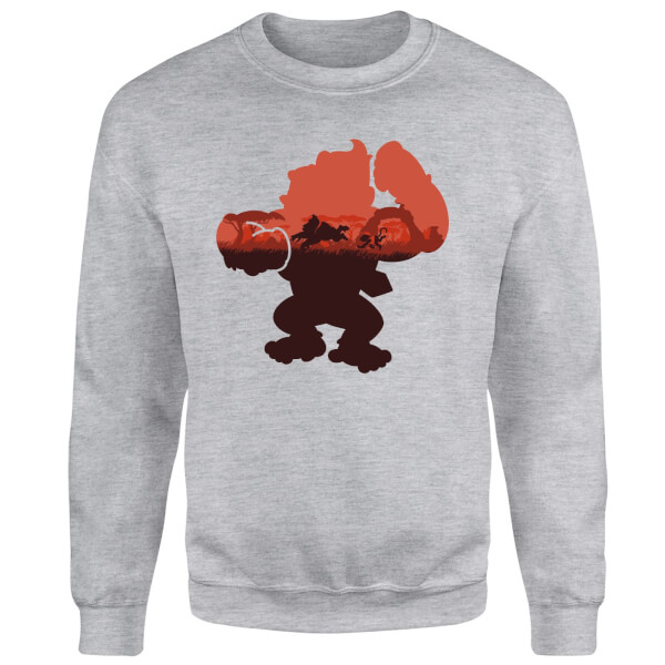 Nintendo Donkey Kong Silhouette Serengeti Sweatshirt - Grey