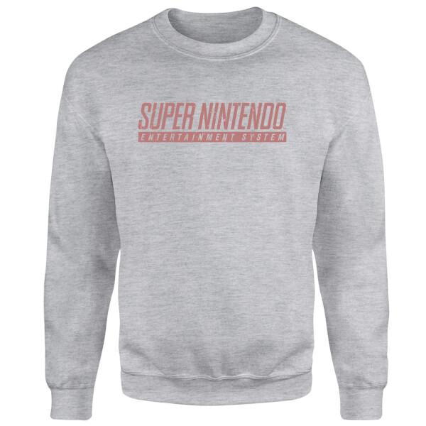 SNES Men's Light Grey Sweatshirt - Grey