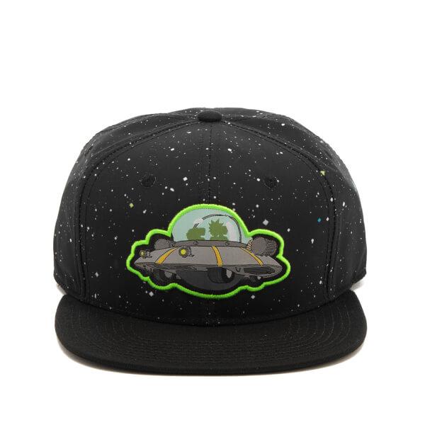 Rick and Morty Men's Spaceship Snapback Cap - Black