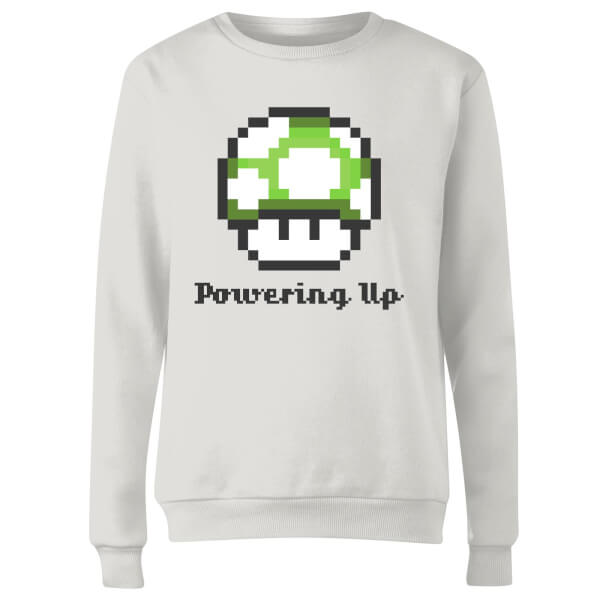 Nintendo Super Mario Powering Up Women's Sweatshirt - White
