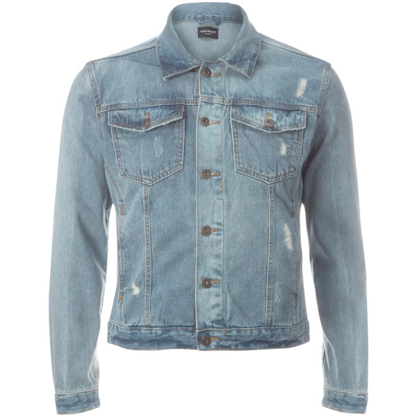 D-Struct Men's Denim Western Jacket - Stonewash