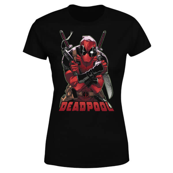 Marvel Deadpool Ready For Action Women's T-Shirt - Black