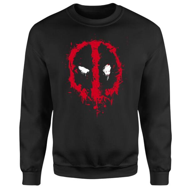 Marvel Deadpool Splat Face Sweatshirt - Black