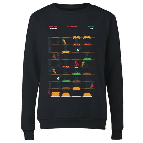 Marvel Deadpool Retro Game Women's Sweatshirt - Black