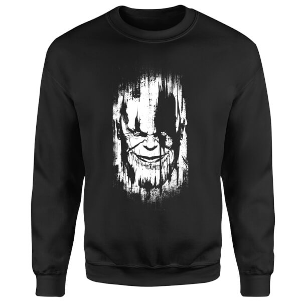 Marvel Avengers Infinity War Thanos Face Sweatshirt - Black