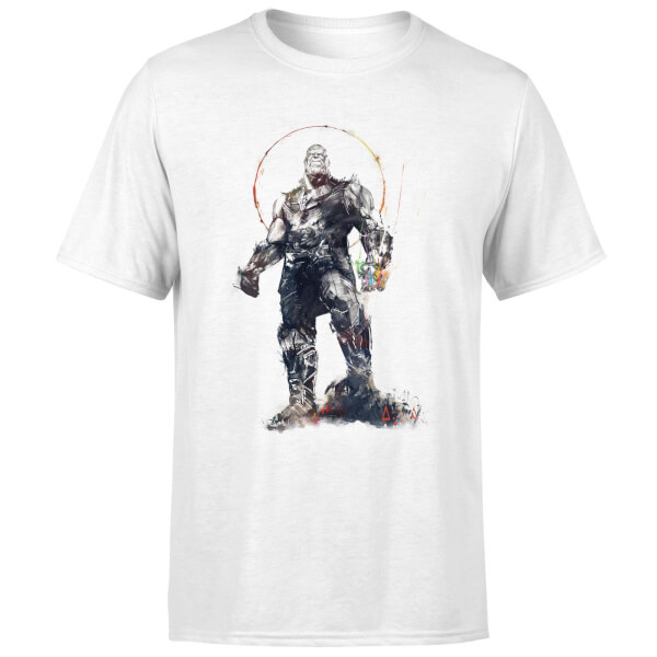 Marvel Avengers Infinity War Thanos Sketch T-Shirt - White