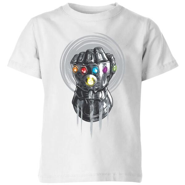 Marvel Avengers Infinity War Thanos Infinite Power Fist Kids' T-Shirt - White