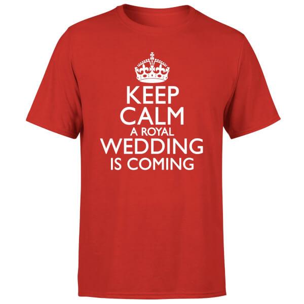 Keep Calm Wedding Coming T-Shirt - Red