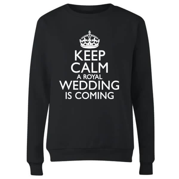 Keep Calm Wedding Coming Women's Sweatshirt - Black