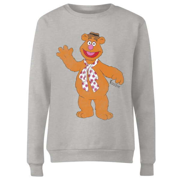 Disney Muppets Fozzie Bear Classic Women's Sweatshirt - Grey