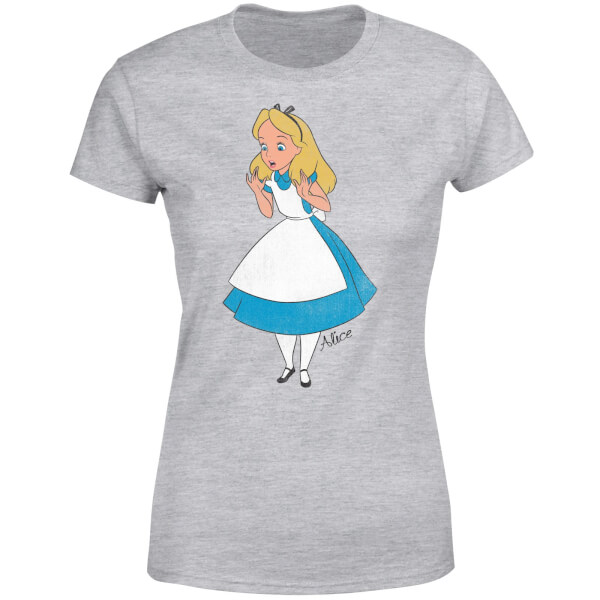 Disney Alice In Wonderland Surprised Alice Women's T-Shirt - Grey