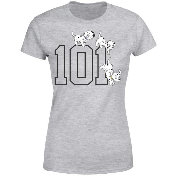 Disney 101 Dalmatians 101 Doggies Women's T-Shirt - Grey