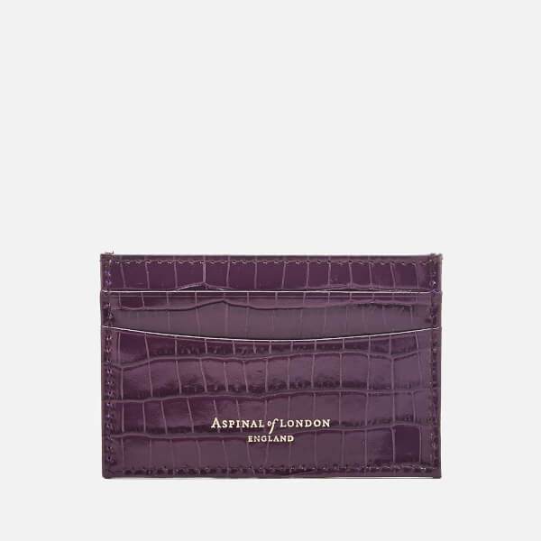 Aspinal Of London Women's Slim Credit Card Case   Amethyst by My Bag