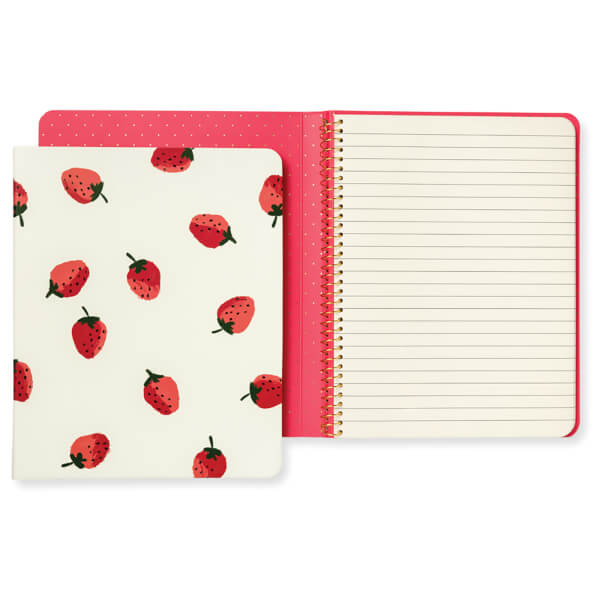 Kate Spade Concealed Spiral Notebook - Strawberries