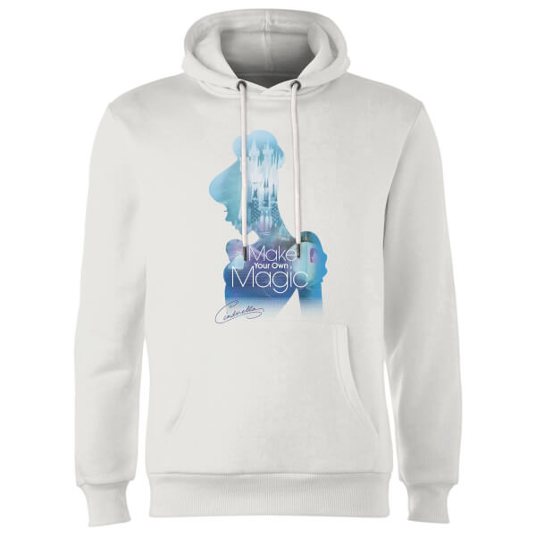 Disney Princess Filled Silhouette Cinderella Hoodie - White