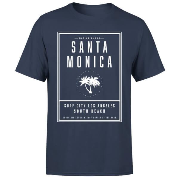 Native Shore Men's Santa Monica Surf City T-Shirt - Navy