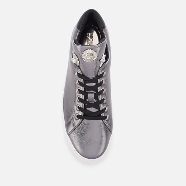 933efbadced MICHAEL MICHAEL KORS Women s Mindy Lace Up Trainers - Gunmetal  Image 3