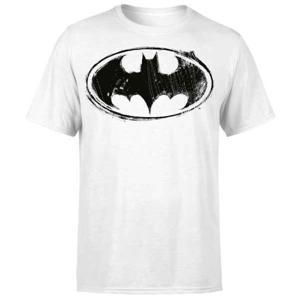 DC Comics Batman Sketch Logo T-Shirt - White
