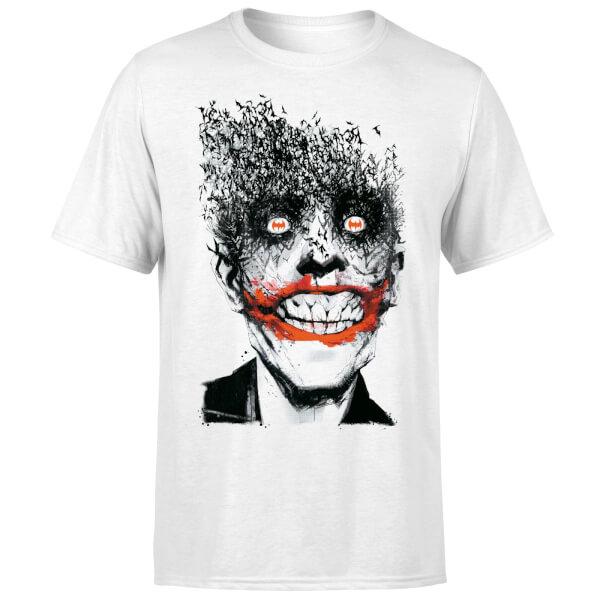DC Comics Batman Joker Face Of Bats T-Shirt - White