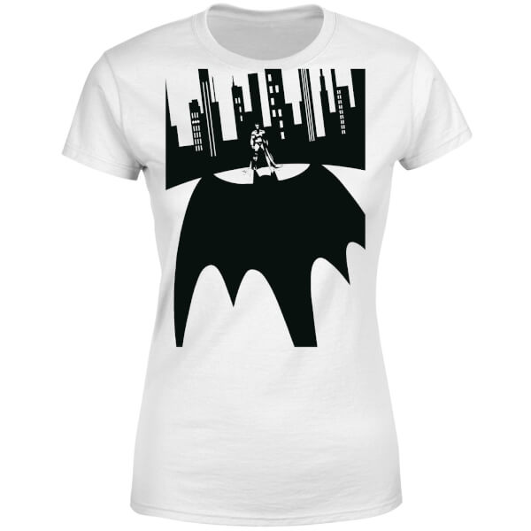 DC Comics Batman Bat Shadow Women's T-Shirt - White