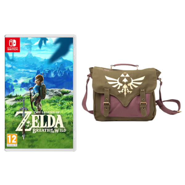 Zelda Breath of the Wild Game + Canvas Messenger Bag