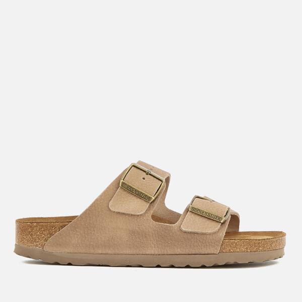 212335b38694 Birkenstock Women s Arizona Slim Fit Nubuck Double Strap Sandals - Steer  Taupe  Image 1
