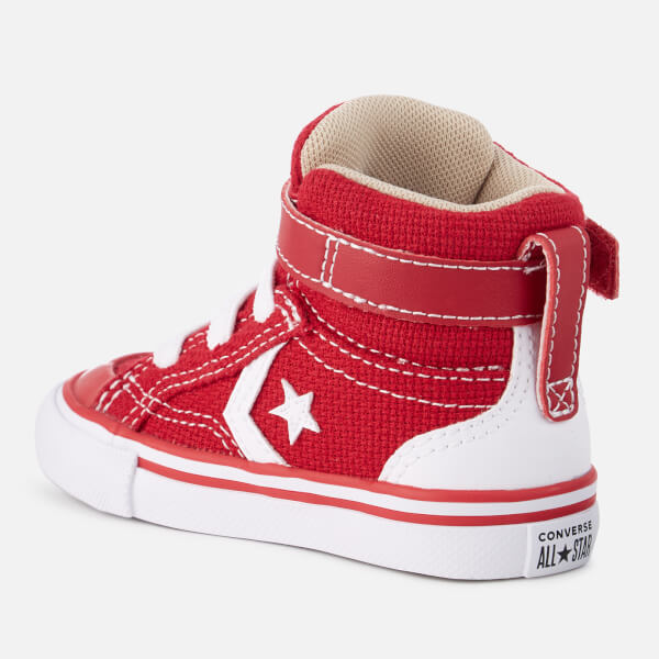 2c179ff8b13f Converse Toddlers  Pro Blaze Strap Hi-Top Trainers - Gym Red Vintage Khaki