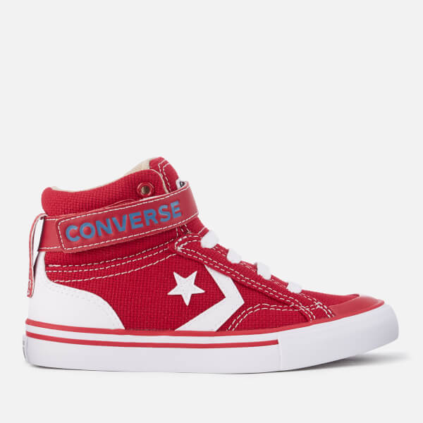 Converse Kids' Pro Blaze Strap Hi-Top Trainers - Gym Red/Vintage Khaki/White