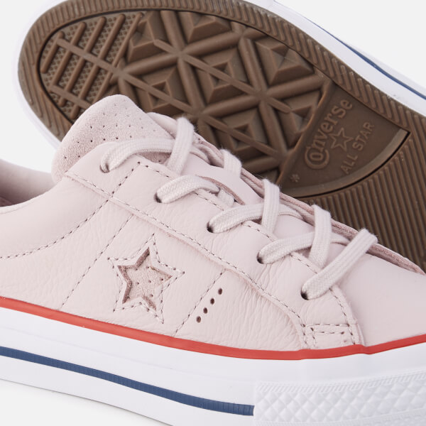 d7f723f6fbd4 Converse Kids  One Star Ox Trainers - Barely Rose Gym Red White ...