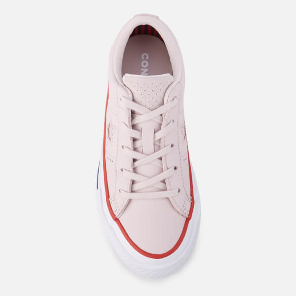 a2bb72c02bea Converse Kids  One Star Ox Trainers - Barely Rose Gym Red White ...