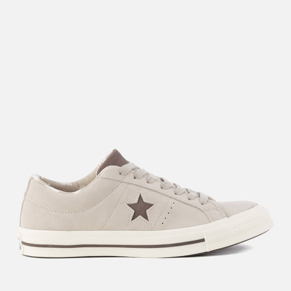 Converse Men's One Star Ox Trainers - Papyrus/Dark Chocolate/Egret