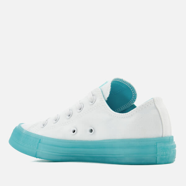 6616071bfcd7 Converse Women s Chuck Taylor All Star Ox Trainers - White Bleached Aqua   Image 2