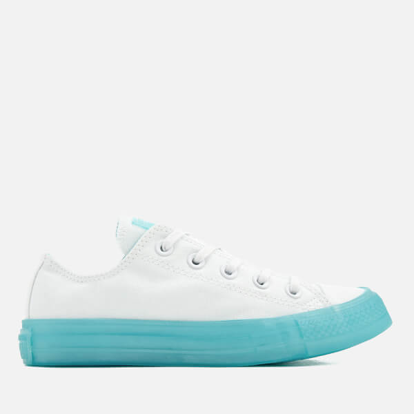 ae253671067f Converse Women s Chuck Taylor All Star Ox Trainers - White Bleached Aqua   Image 1