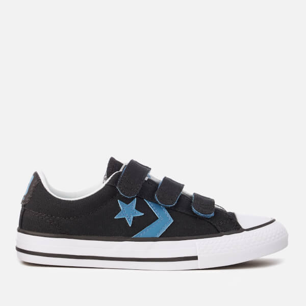 Converse Kids' Star Player 3V Ox Trainers - Black/Aegean Storm/Black