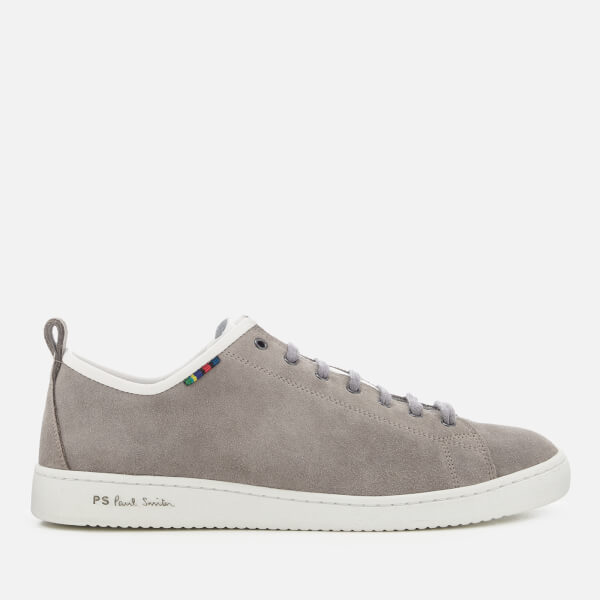 PS by Paul Smith Men's Miyata Suede Cupsole Trainers - Grey