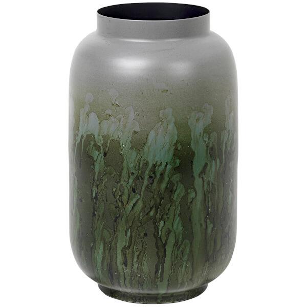 broste copenhagen eik iron vase drizzle chinos green. Black Bedroom Furniture Sets. Home Design Ideas