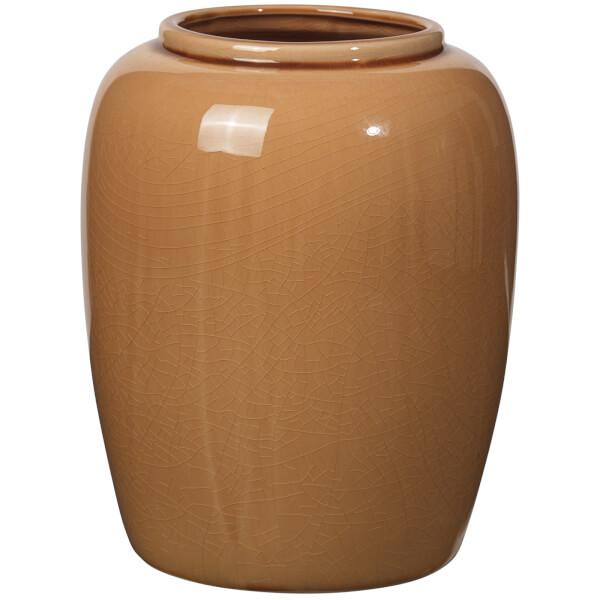 broste copenhagen crackle ceramic vase indian tan free. Black Bedroom Furniture Sets. Home Design Ideas