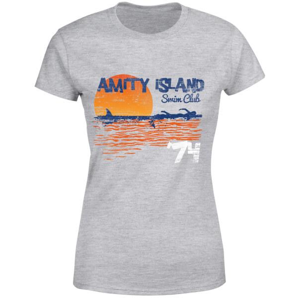 Jaws Amity Swim Club Women's T-Shirt - Grey