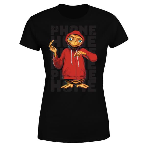 ET Phone Home Stylised Women's T-Shirt - Black