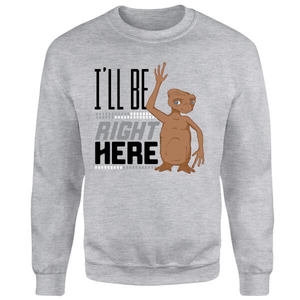ET I'll Be Right Here Sweatshirt - Grey