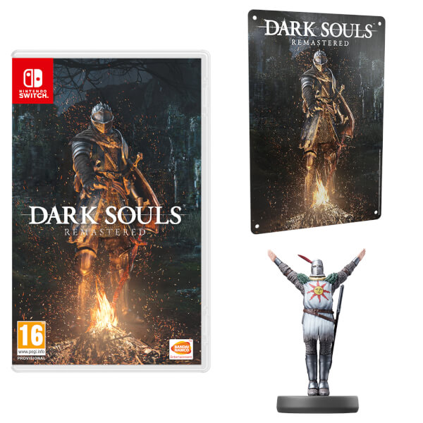 Dark Souls Remastered + Metal Plate + Solaire of Astora amiibo