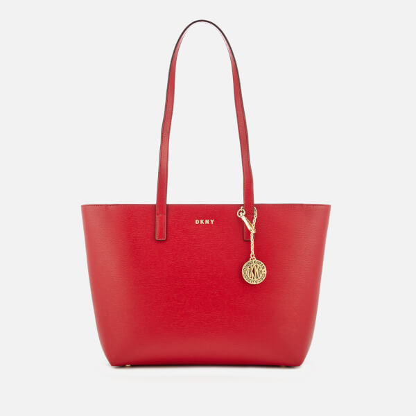 DKNY Women's Bryant Medium Sutton Textured Leather Tote Bag - Safari Red