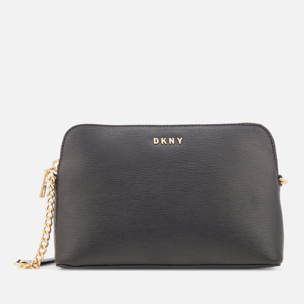 7c7be5bb43ee DKNY Women s Bryant Sutton Textured Leather Top Zip Cross Body Bag -  Black Gold
