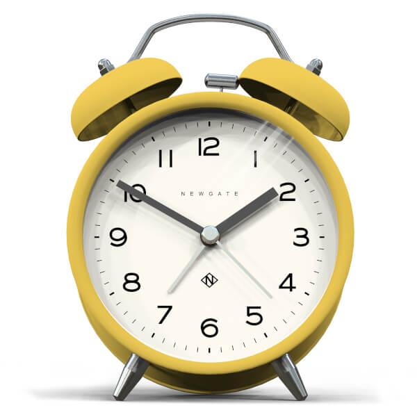 Newgate Charlie Bell Echo Silent Alarm Clock - Yellow