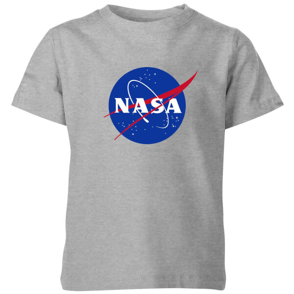 NASA Logo Insignia Kids' T-Shirt - Grey: Image 1