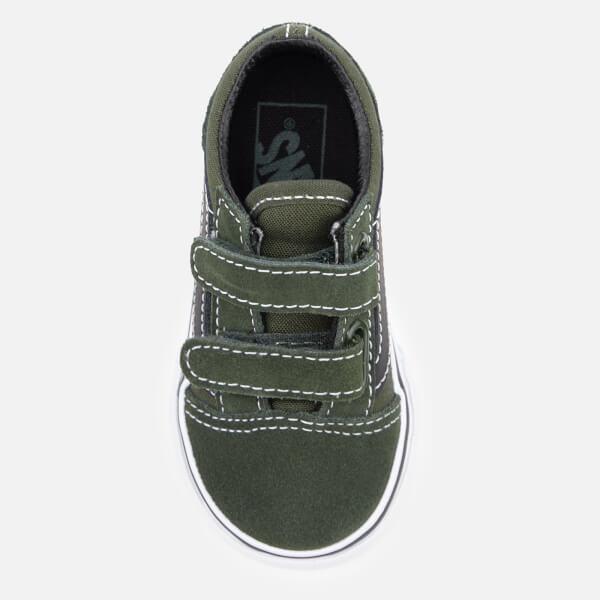 4c91eca8e642ec Vans Toddlers  Old Skool Velcro Trainers - Duffel Bag Black Junior ...