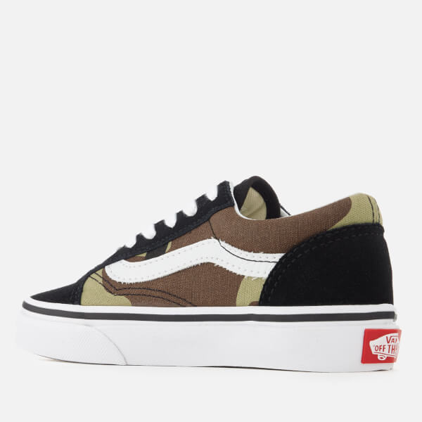 5063720629 Vans Kids  Old Skool Woodland Camo Trainers - Black Woodland  Image 2