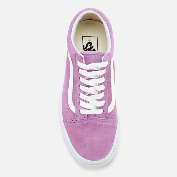 ae8614ef47 Vans Women s Old Skool Suede Trainers - Purple True White  Image 3