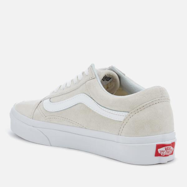 1d6b833dc292e9 Vans Women s Old Skool Suede Trainers - Moonbeam True White Clothing ...