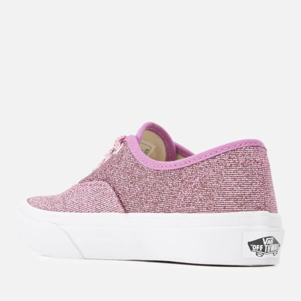 60b9903785 Vans Kids  Authentic Lurex Glitter Trainers - Pink True White  Image 2